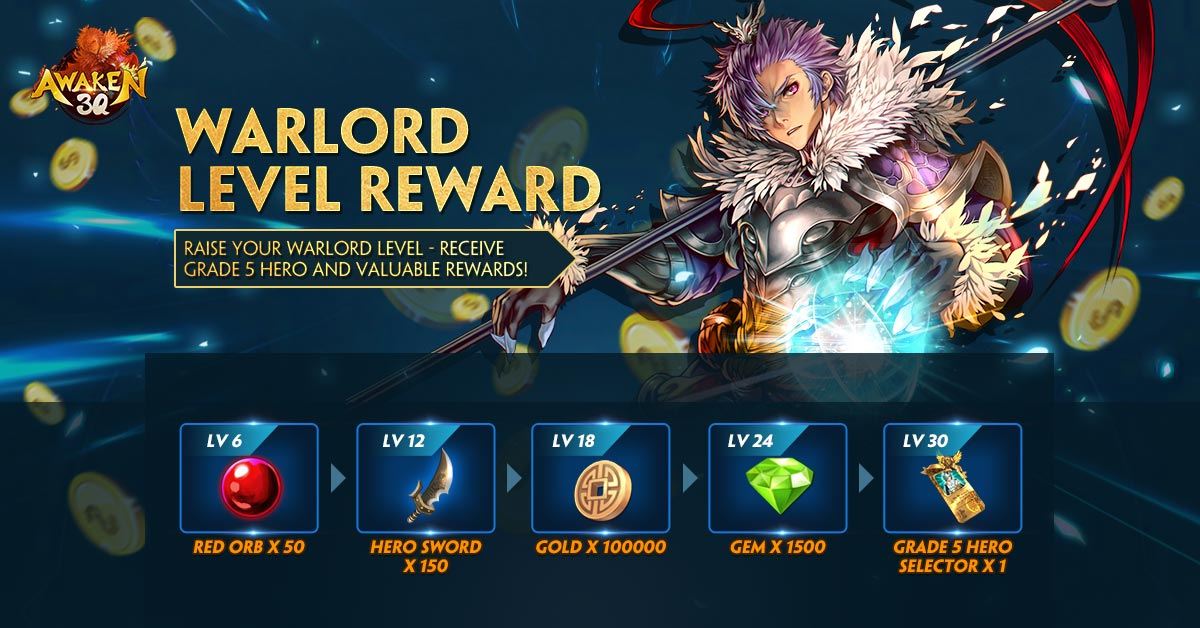 Warlord level reward