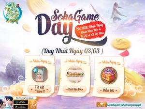 [Sự Kiện] SohaGame Day - Chào Tháng 6 Nhiều Ưu Đãi Hấp Dẫn